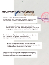 "image shows the blue persona shield floating on top of the purple ""sea"" of unconscious with the yellow ego orb and the red shadow orb; on top of this image are instructions for a movement journal, detailed in this caption"